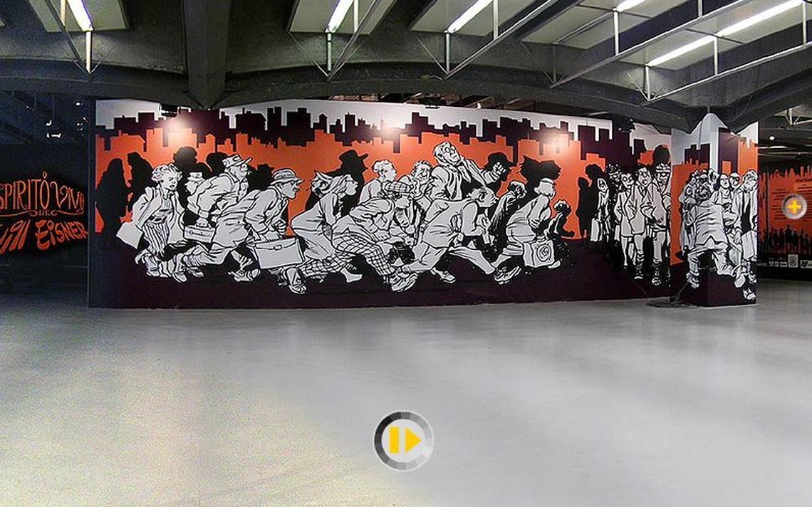 Visitante pode dar uma volta 360º na exposição sobre Will Eisner que aconteceu no CCSP, em São Paulo