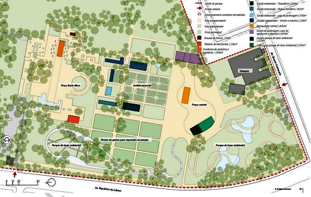 Plano de ocupação Ibirapuera feito pela prefeitura