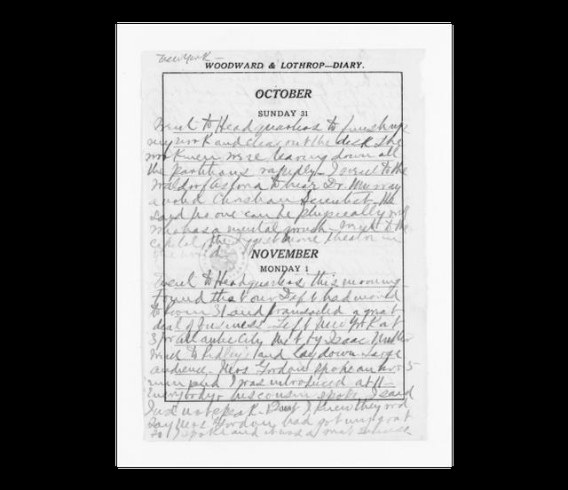 Página do diário de Mary Church Terrell no ano de 1920