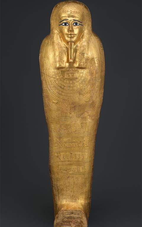Sarcófago comprado pelo Metropolitan, de Nova York, de negociador na França, tinha documentos falsos
