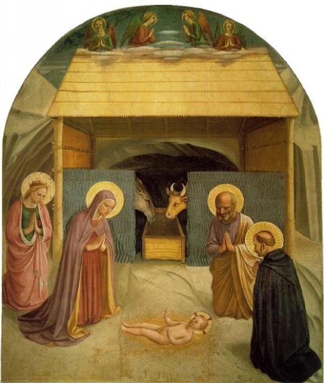 Natividade, pintura de Fra Angelico (1440-1441)