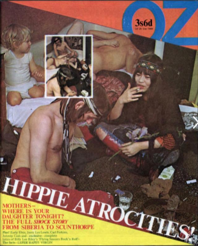Capa da revista OZ de dezembro de 1969