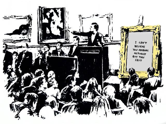 """Banksy: """"Eu não acredito que vocês, imbecis, realmente compram essa merda"""""""