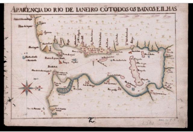 Mapa da costa do Rio de Janeiro, em 1666