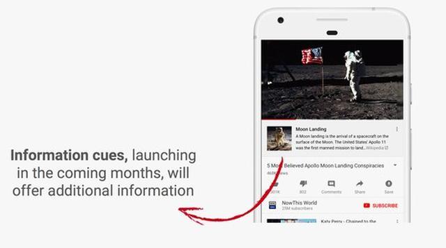 Exemplo de como as informações textuais adicionais aparecerão em vídeos