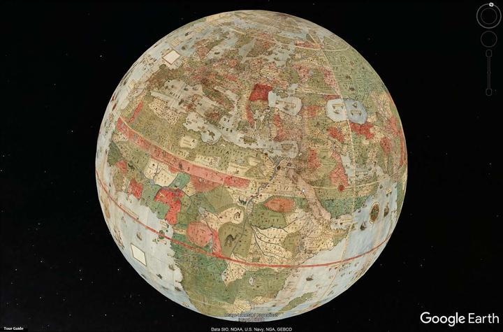 Projeção mostra mapa em formato 3D