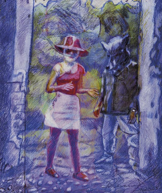 Pintura da série Chapeuzinho Vermelho de Brennand