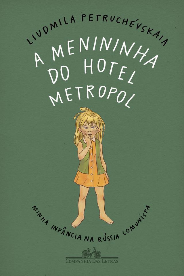"""Capa do livro """"A menininha do Hotel Metropol"""", traz o desenho de uma menina de cabelos loiros despenteados"""