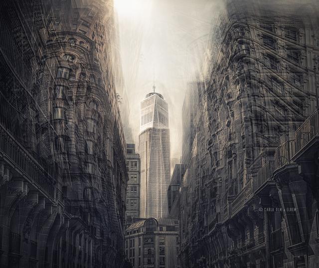 Bairro de Montparnasse (Paris) e torre do World Trade Center (Nova York)