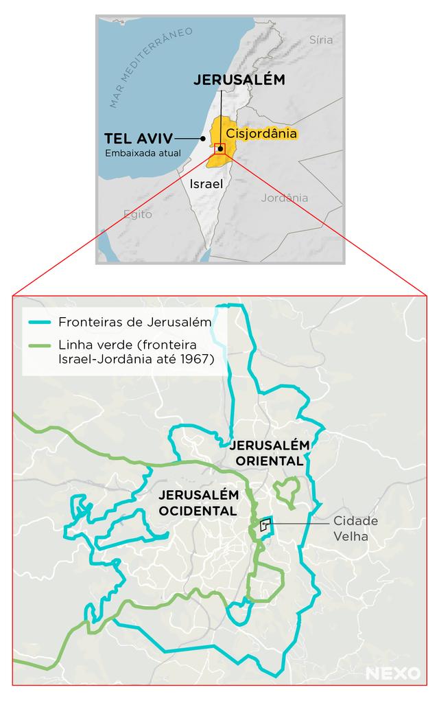 Mapa Jerusalém