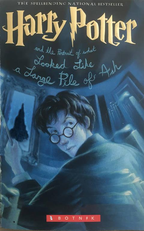 Capa de 'Harry Potter and what looked like a large pile of ash'