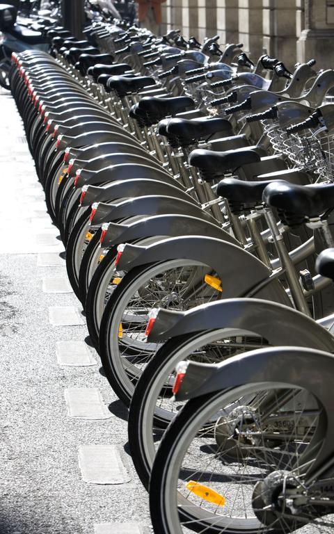 Estacionamento de bicicletas públicas