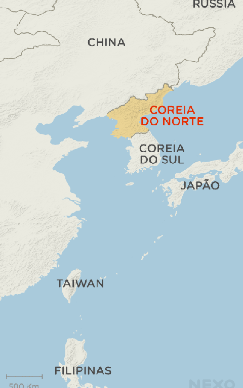 Mapa da Coreia do Norte