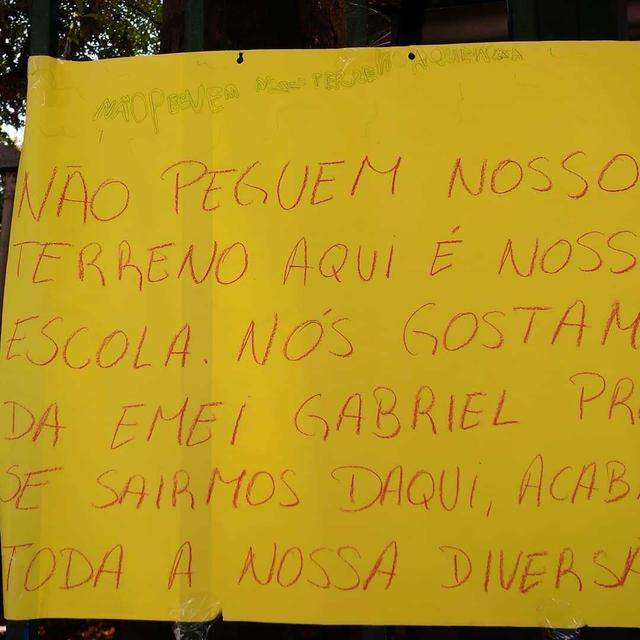 cartaz protesto