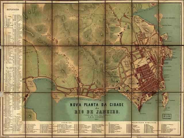 Planta do Rio de Janeiro de 1867